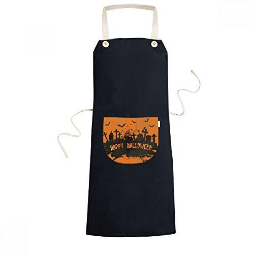 ht Friedhof Halloween Kochen Küche Schwarz Schürzen mit Taschen Chef-Geschenke ()