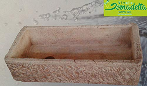Lavello Lavabo in Cemento da Giardino Lavello Rustico - Misura 80x40x20 cm