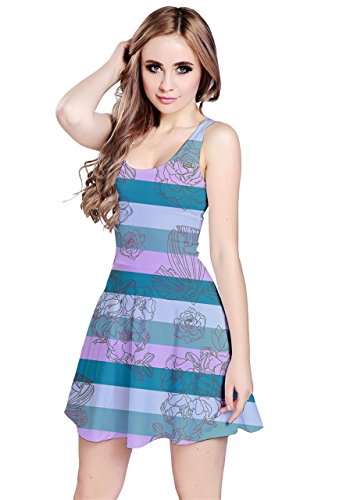 CowCow - Robe - Femme Colorful Chevron Mint Stripes
