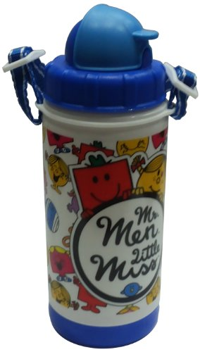 Mr Men Little Miss Water Bottle 400 ML, 60mm, Multi