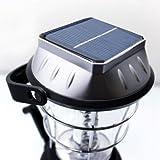 36er LED Camping Laterne Lampe Licht mit 5 Stromquellen Solarfeld Solar Kurbel Akku Batterie USB Kfz Netzteil - 2