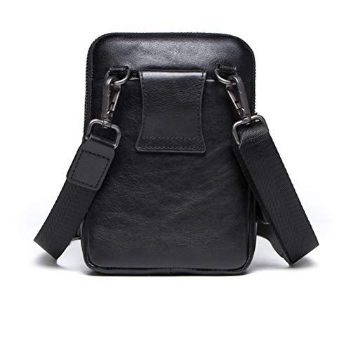 Imagen de lcdy bolso de cintura bolso de bandolera de cuero para hombre casual crossbody bolsa de cuero de primera capa para hombres maletín vintage18*6 * 13cm alternativa