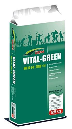 CUXIN DCM Rasendünger Profi Vital Green 25 kg Frühjahrsdünger organisch gute Wirkung