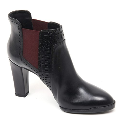 B8343 tronchetto donna TOD'S T95 scarpa nero/bordeaux boot shoe woman Nero/Bordeaux