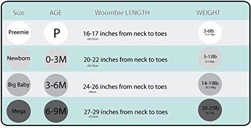 Pucksack Woombie Air Kleine Autos - Atmungsaktiver Baby Pucksack (mit Netzstoff auf Brusthöhe) für Neugeborene im Alter von bis zu 3 Monaten mit einem Gewicht von 2,5-6 kg