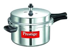 Prestige Popular Aluminium Pressure Cooker, 7.5 Litres, Silver