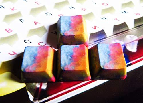 Handgefertigte Van Gogh Style Pfeil WASD PBT R4 Keycap Dye-Sublimation für Cherry MX RGB Switch Mechanische Tastaturen Gaming DIY Abstract Art 4 Keys R4 -