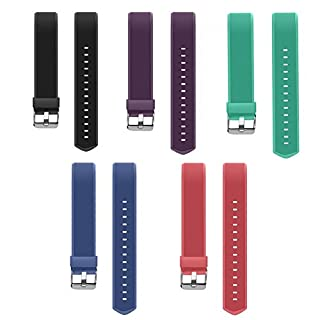 YiYunTE ID115Plus HR Replacement Strap - Adjustable TPU Replacement Bands For 115 Plus hr Smart Bracelet Fitness Trackers(Black+Purple+Red+Blue+Green)
