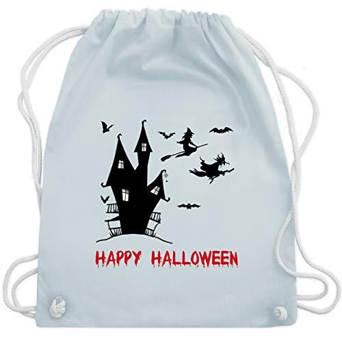 Halloween - Happy Halloween Hexen Haus - Unisize - Pastell Blau - WM110 - Turnbeutel & Gym Bag (Halloween Ideen 2019 Kostüme)