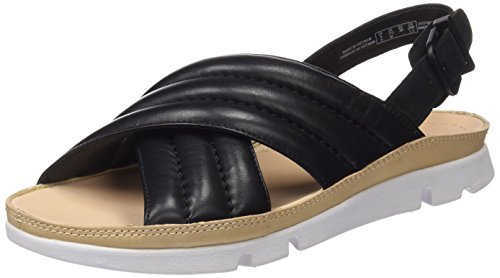 Clarks 261237044, Sandali Donna Nero (Black Leather)