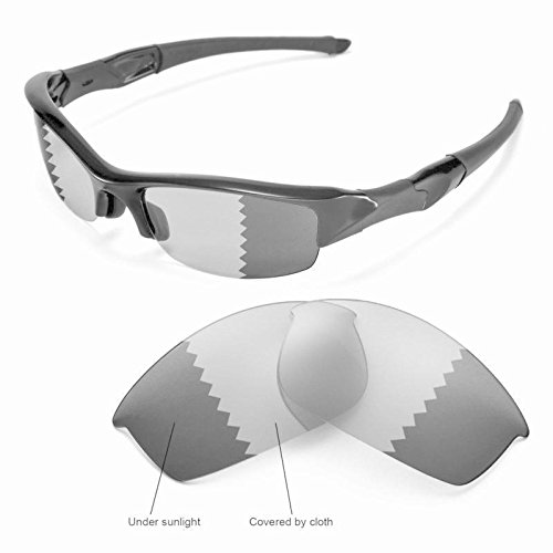 sunglasses restorer Kompatibel Ersatzgläser für Oakley Half Jacket 2.0 XL, Photochromic Grey