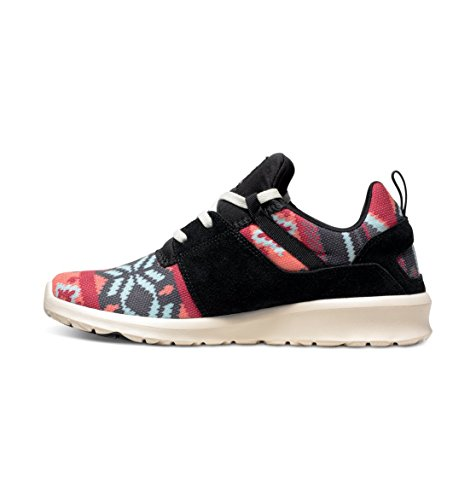 DC Shoes Heathrow Se, Baskets Basses Femme Multicolore (Black/Graphic)