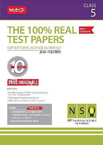The 100% Real Test Papers (NSO) Class 5