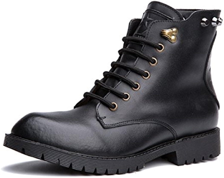 Martin Botas Hombres Ocio Retro Otoño E Invierno Cuero Botas Cortas Zapatos De Hombre