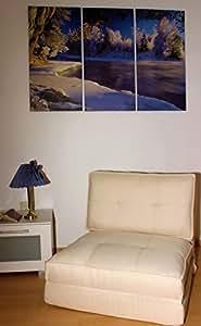 Schlafsessel Gästebett Jugendsessel Bettsessel (Stoffbezug beige groß)