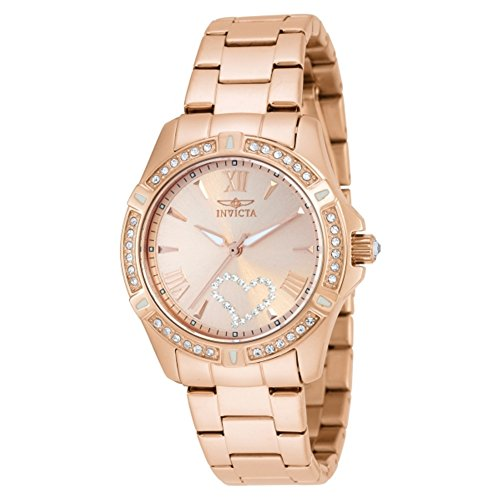 Invicta 21417 Ladies Angel Rose Gold Plated Bracelet Watch