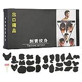 Tatuaggio Dei Capelli Stencil Modello Hair Trimmer Intagliato Dye Colorare Tatuaggi Modelli Stencil FAI DA TE Salon Strumenti Barbiere 25 pz/set