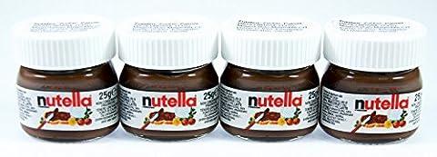 4x Ferrero Nutella World Glas Brotaufstrich Schokolade 25g (Nutella Ferrero)