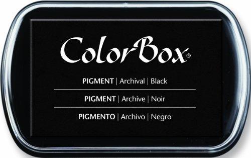 ColorBox klassisches Stempelkissen mit Pigmentfarbe, vollständige Größe, Boysenbeere, Schwarz, 3-1/4 x 2-1/4 in