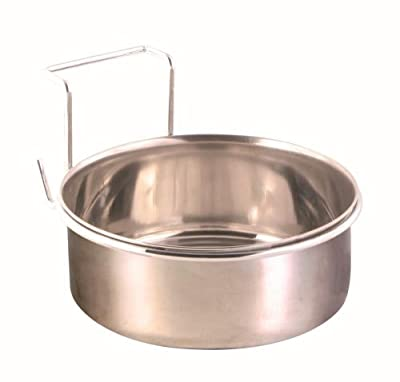 Trixie Stainless Steel Bowl with Holder Holds 900ml Diameter 14cm