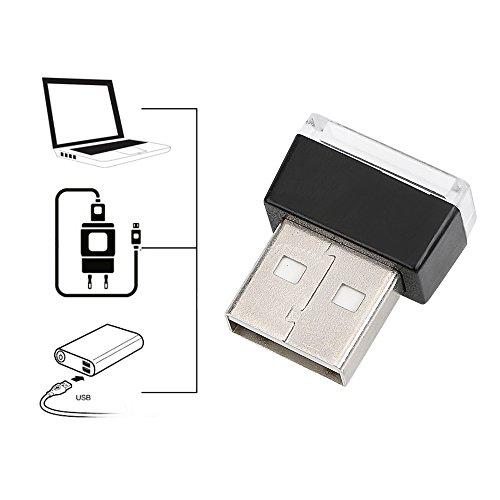 iTimo Auto-LED-Lichter, dekorative Lampe, tragbare Notbeleuchtung, PC-Dekoration, mit USB-Buchsen (Weiß)