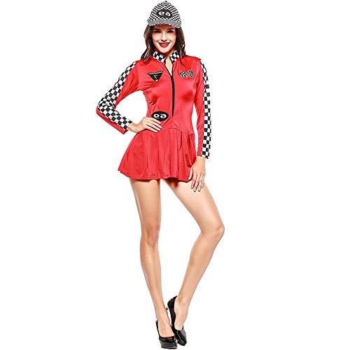 seballuniform, Spielanzug Cheerleader-Rennanzug Halloween/Carnival Festival,Red ()