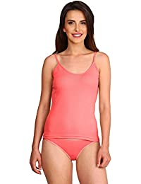 Jockey Women's Cotton Spaghetti Top (Blush Pink)