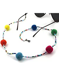 Imixlot Colorful Beaded & Ball Glasses Sunglasses Spectacles Anti-Skidding Neck Chain Decorated