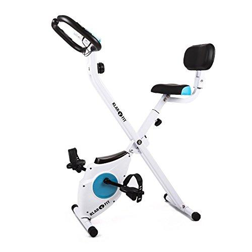 41sOWpTQkWL. SS500  - Klarfit Azura Comfort • Ergometer • Home Trainer • Fitness Bicycle • Cardio Bike • Training Computer • Pulse Meter • 8-step Adjustable Resistance • 3kg Flywheel • Backrest