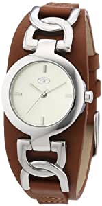 TOM TAILOR Damen-Armbanduhr XS Analog Quarz Leder 5411102