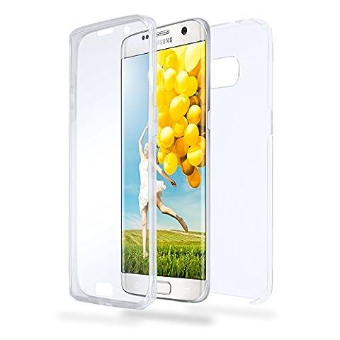Samsung Galaxy S7 Edge Hülle Silikon Transparent [OneFlow 360 Grad Touch Cover] Dünne Schutzhülle Clear Handyhülle für Samsung Galaxy S7 Edge Case Ultra-Slim Silikonhülle