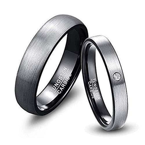 NUNCAD Herren-Ring Wolframcarbid Außenbreite 6mm bequem, Men Fashion Schmuck Ehering Verlobungsring Freundschaftsring Lifestyle-Ring Größe 61 (21)