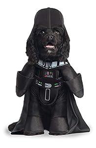 Star Wars - Disfraz de Darth Vader Deluxe para mascota, Talla M perro (Rubie