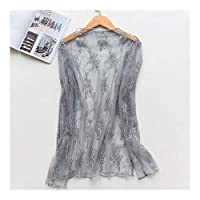 DSJTCH New Women Sexy Round Neck Lace Sleepwear Dress Underwear Babydoll Nightgown Black White nightdress chemise de nui (Color : Grey blue T shirt, Size : M)