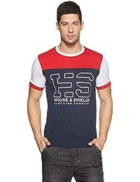 Amazon Brand - House & Shields Men's Printed T-Shirt