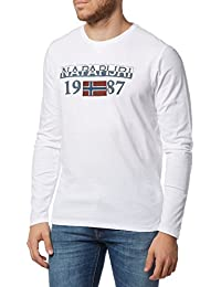 NAPAPIJRI Hombres camiseta de manga larga N0YH4W002 SOLIN WHITE