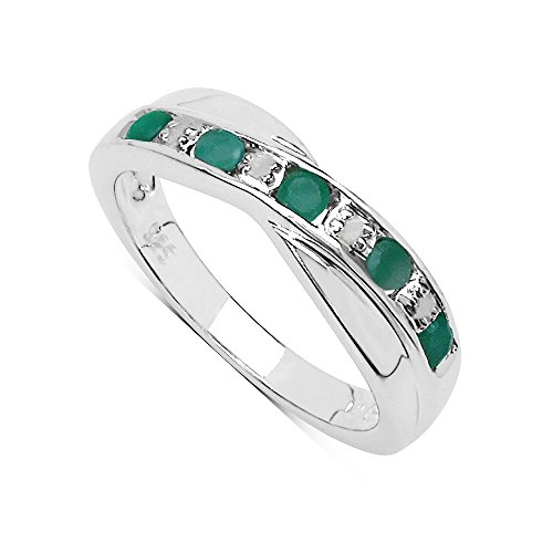 the-emerald-ring-collection-beautiful-channel-set-emerald-diamond-crossover-eternity-ring-in-sterlin