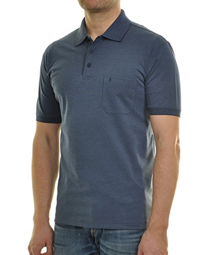 Ragman Herren Kurzarm Softknit Poloshirt Mitternachtsblau