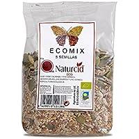 Ecomix 5 Semillas Biológico (Calabaza Girasol Sésamo Crudo Lino Marrón Y Lino Dorado) Naturmix 250 G