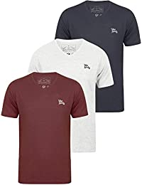 454ffb171c3 Tokyo Laundry Mens 3 Pack Plain Combed Cotton Tee T-Shirt Top Plain Mix  Colours