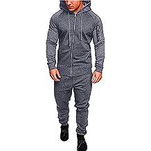Pantalones de Sudadera de Bolsillo de otoño Invierno para Hombre Establece chándal de Traje Deportivo de