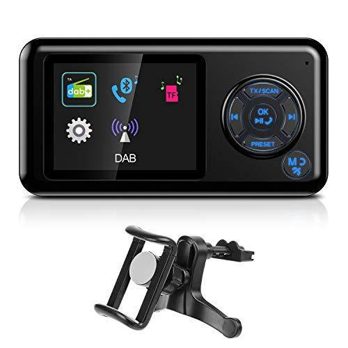 "angmno DAB-007B DAB/DAB + Radio-Kfz-Einbausatz mit Bluetooth-FM-Sender Auto-Ladefunktion TF-Karte MP3-PLAYER 2,4""-TFT Color Screen Freisprechanruf AUX Out"