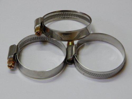 10-Stck-EDELSTAHL-Schlauchschellen-W2-Spannbereich-32-bis-50-mm-Bandbreite-12-mm-DIN-3017-Industriequalitt-mit-Schneckengewinde