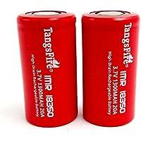 2PCS Tangsfire IMR 183501300mAh 3.7V 20A batteria ricaricabile scarico alto batteria battery-flat top, vera capacità 1100mAh