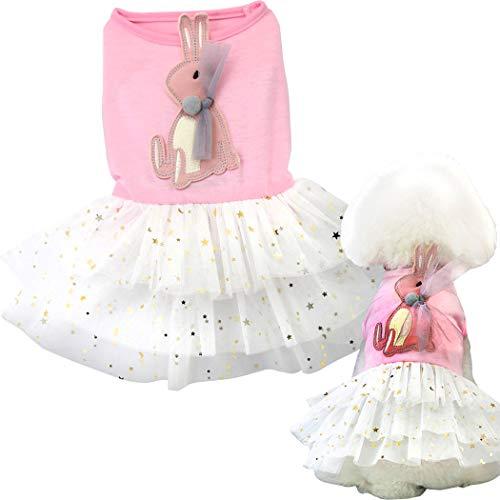 Hundekleid, Tutu-Rock für Hunde und Katzen, süßer Prinzessinnenrock mit Spitze, für kleine Hunde und Katzen, L:Back 11.8