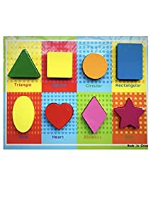 WE-BLINK INTERNET LLP Wooden Chunky Puzzle Shapes