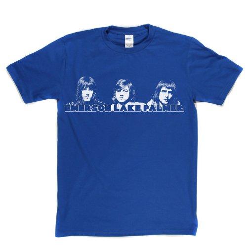 Emerson Lake & Palmer Classic Rock Trio English 1970s 70s 70er T-shirt Königsblau