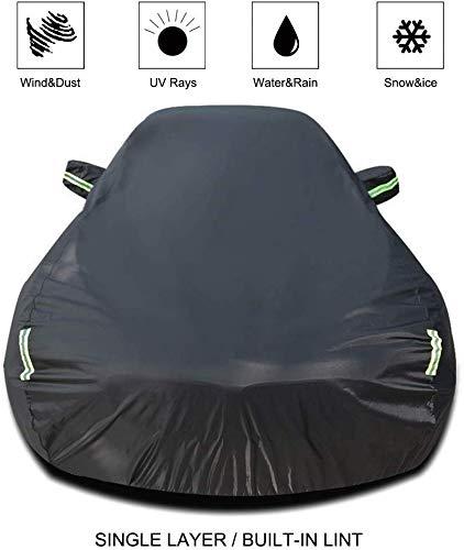 LYQCZ Auto Abdeckung Kompatibel Mit Renault CLIO Auto Abdeckung Auto Plane Allwetter Regen Sonnenschutz Winddicht Staubdicht Outdoor Indoor Auto Schild (Farbe: einschichtig)