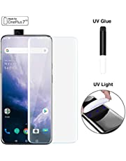 Doubledicestore Tempered Glass for onePlus 7 Pro/oneplus 7T Pro Advanced Border-Less Full Edge to Edge UV Screen Protector with kit