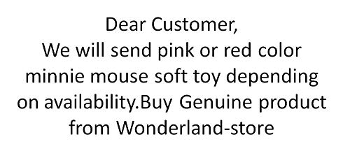 Wonderland Toys Disney Character Plush Minnie Mouse Soft Toy for Kids (Red , 21 Inch)